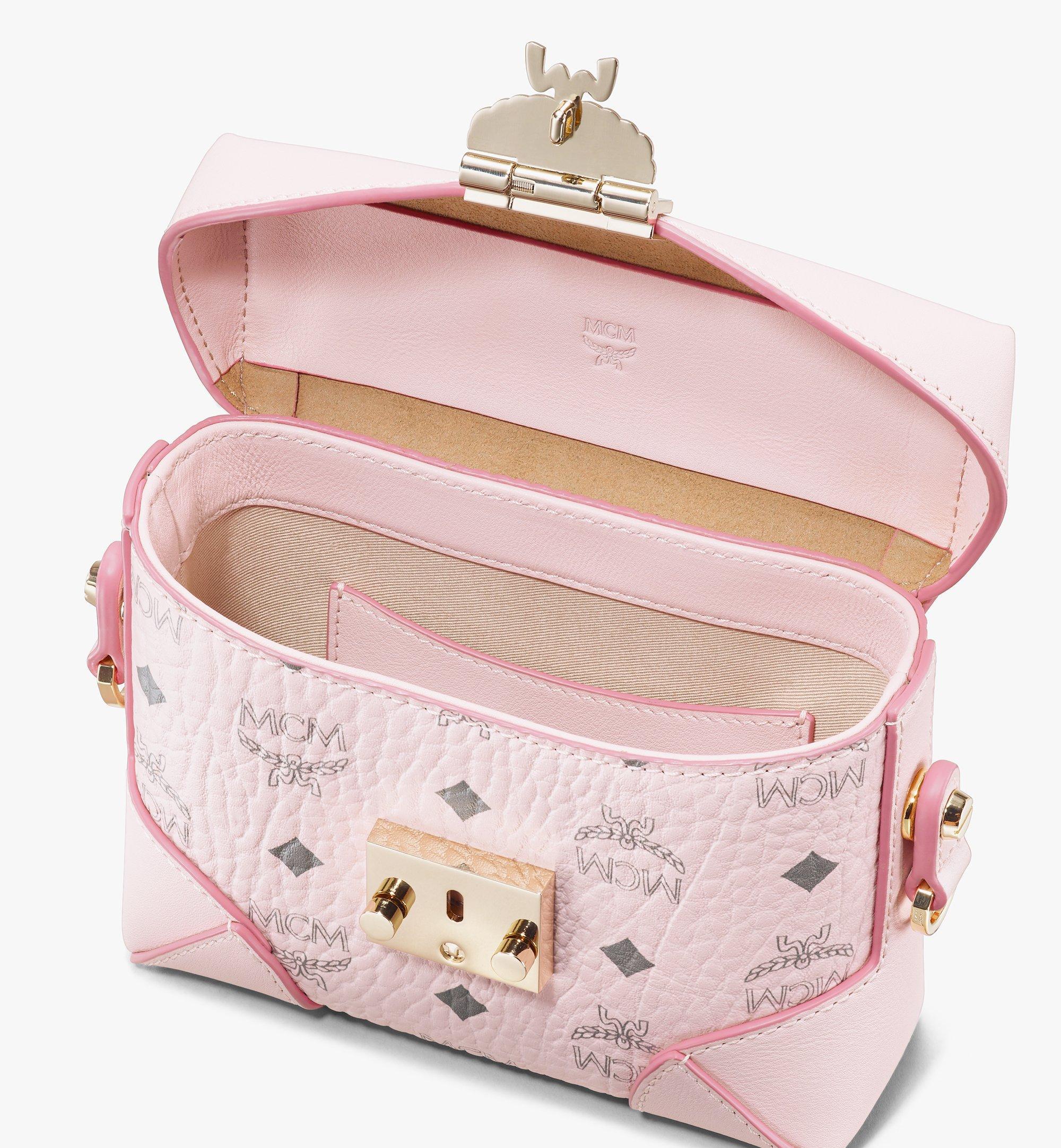 MCM Soft Berlin Belt Bag in Visetos Pink MWZ8ABF13QH001 Alternate View 3
