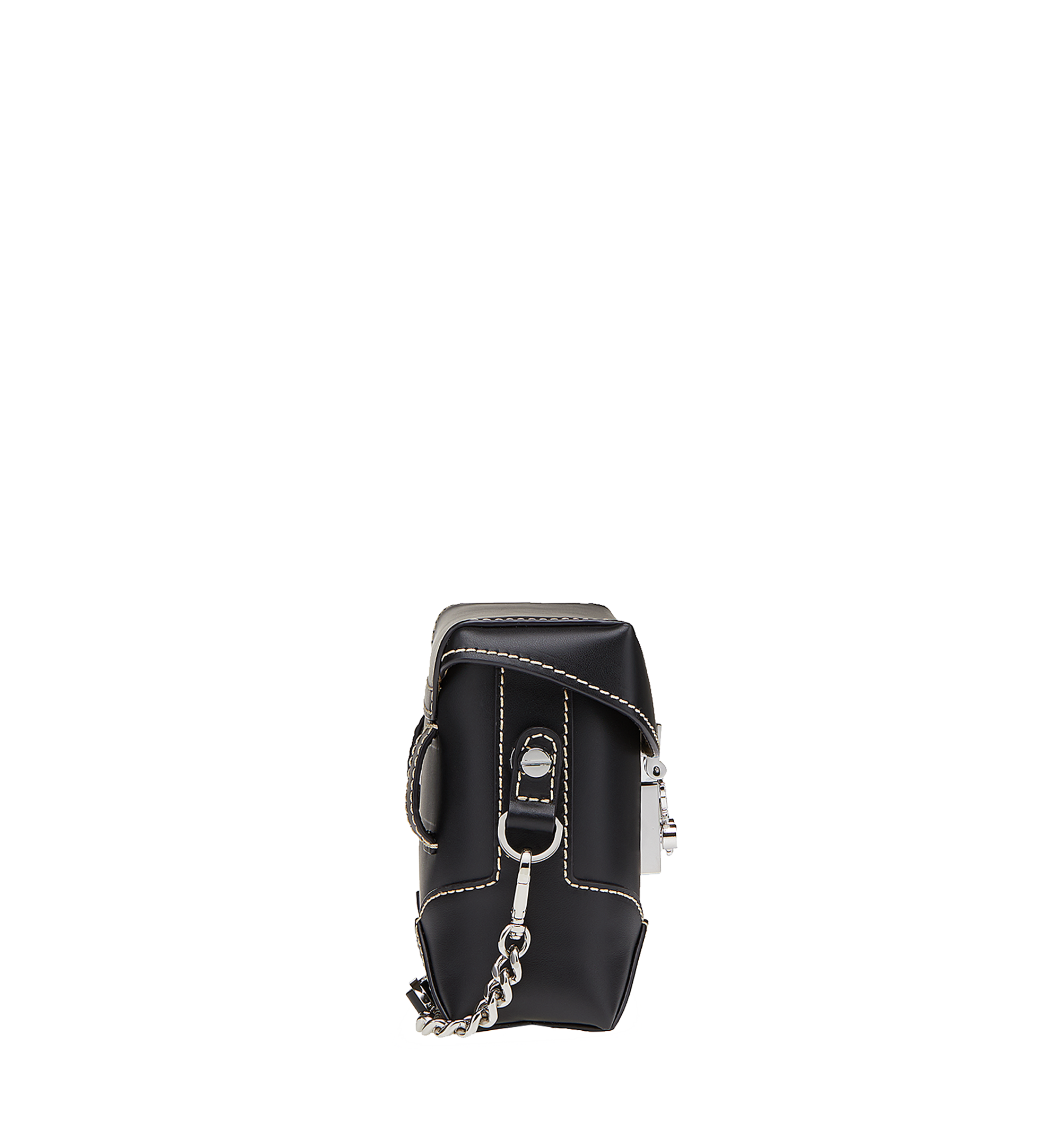 MCM Soft Berlin Belt Bag in Vachetta Leather Black MWZ8ABF23BK001 Alternate View 2