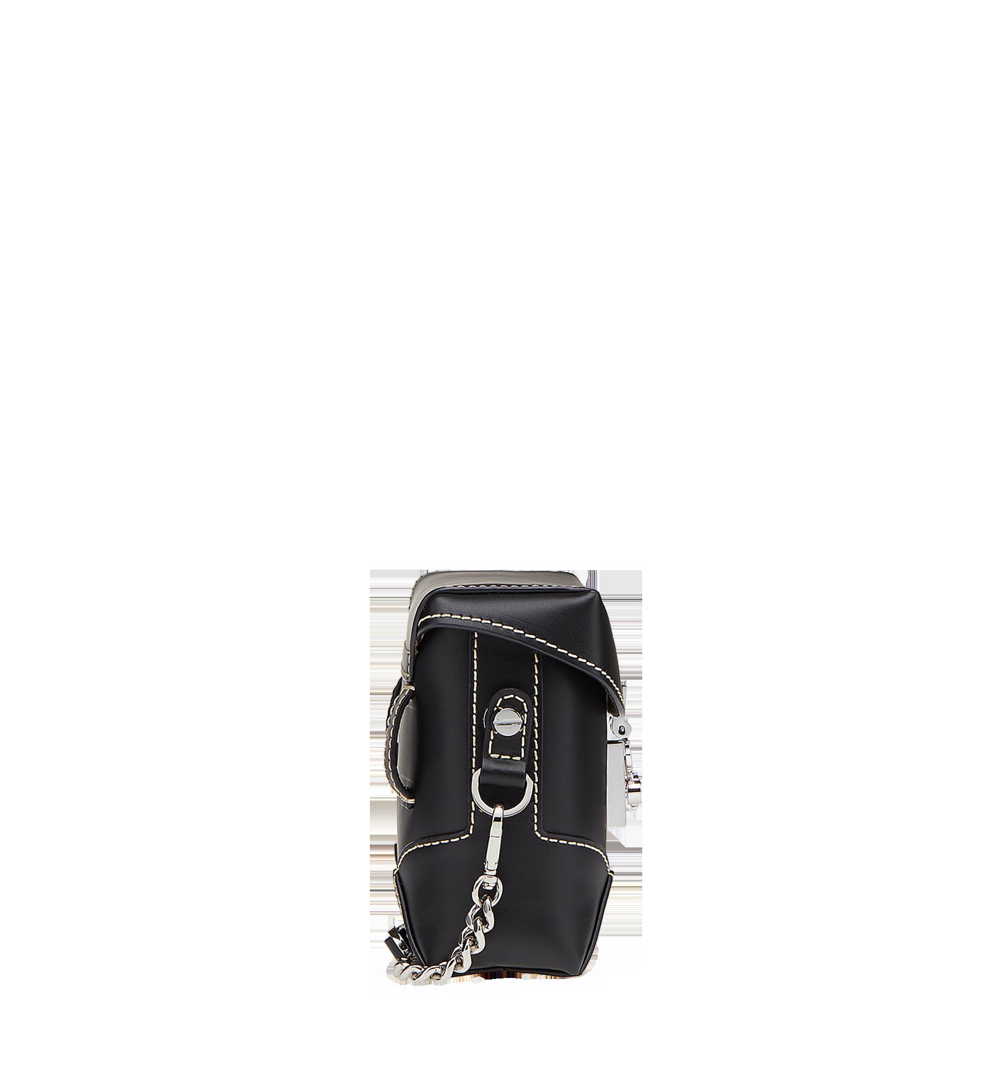 MCM Soft Berlin Belt Bag in Vachetta Leather Black MWZ8ABF23BK001 Alternate View 3