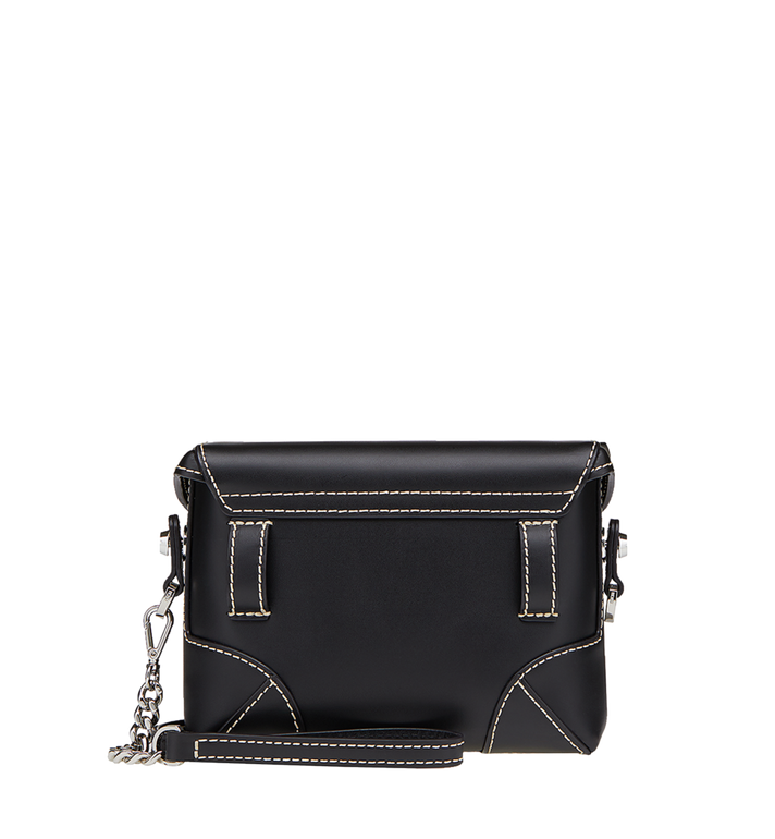 MCM Soft Berlin Belt Bag in Vachetta Leather Black MWZ8ABF23BK001 Alternate View 4
