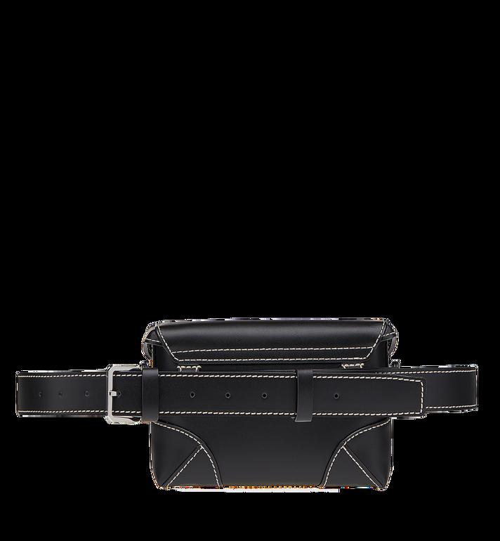 MCM Soft Berlin Belt Bag in Vachetta Leather Black MWZ8ABF23BK001 Alternate View 5