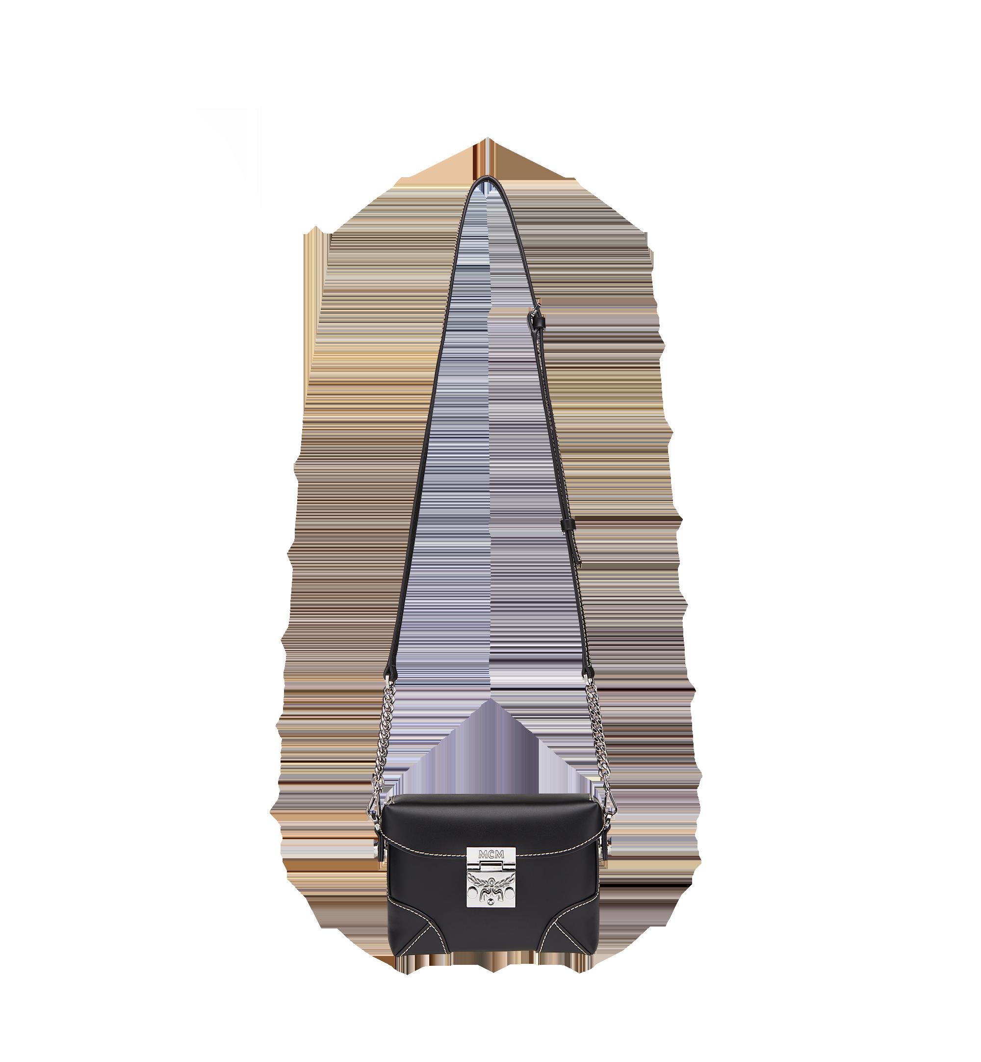 MCM Soft Berlin Belt Bag in Vachetta Leather Black MWZ8ABF23BK001 Alternate View 6