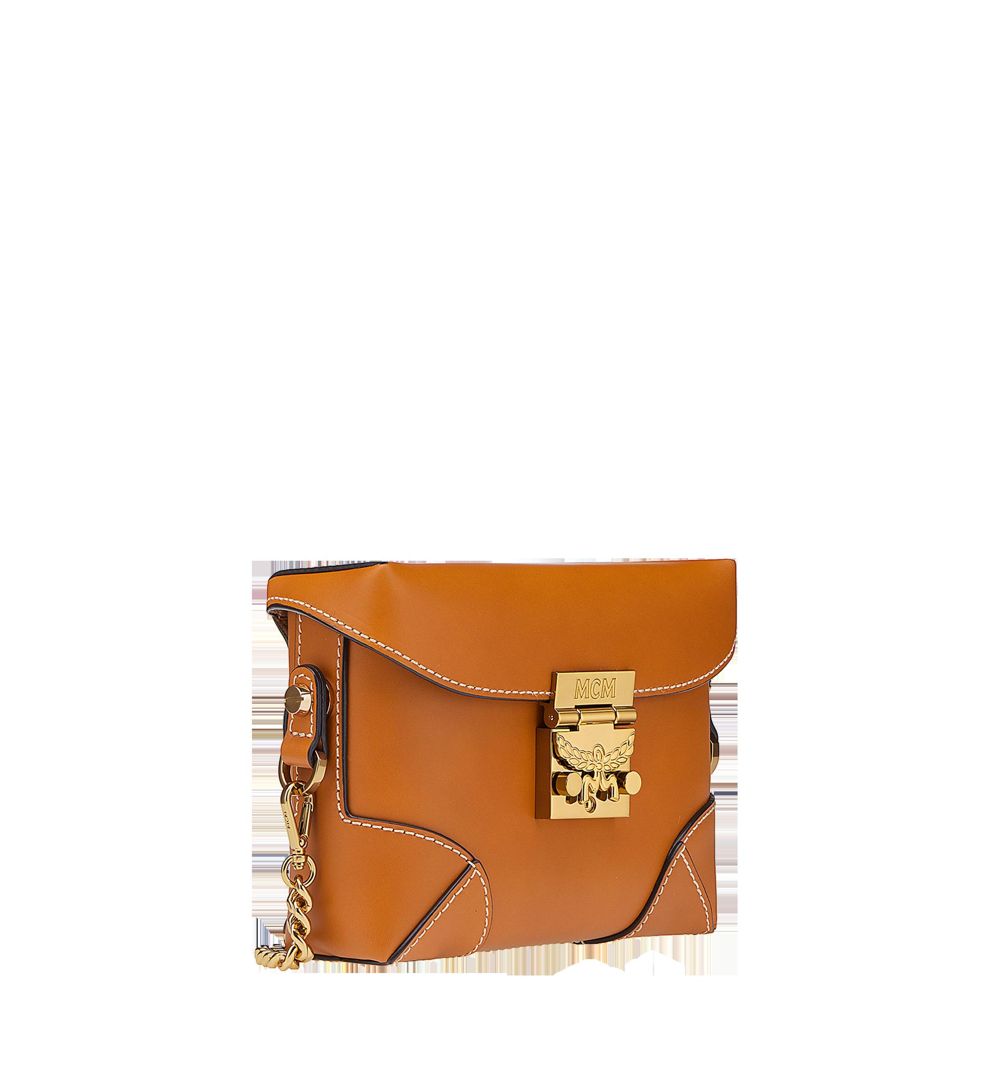 MCM Soft Berlin Belt Bag in Vachetta Leather Cognac MWZ8ABF23CO001 Alternate View 1