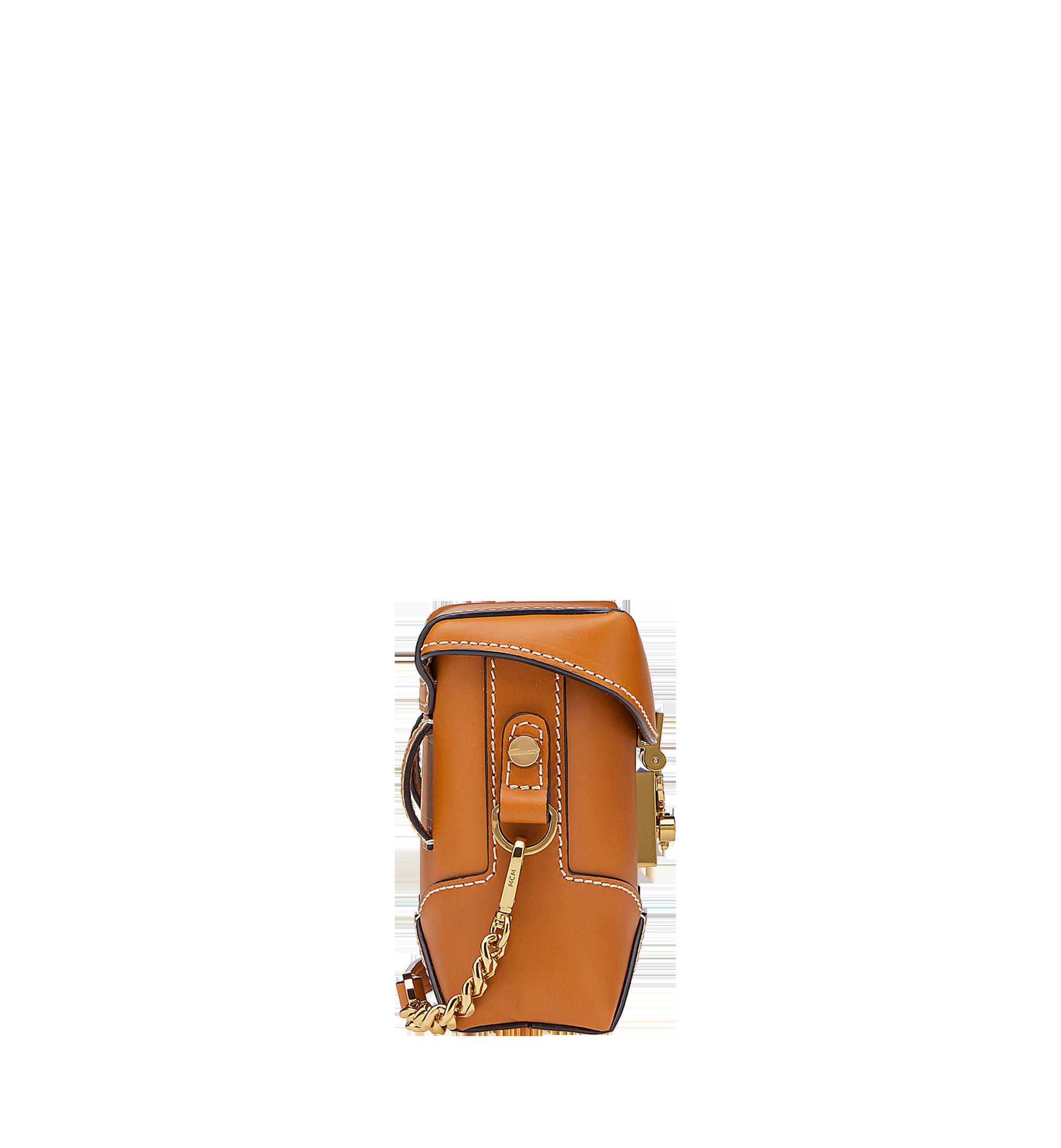 MCM Soft Berlin Belt Bag in Vachetta Leather Cognac MWZ8ABF23CO001 Alternate View 2