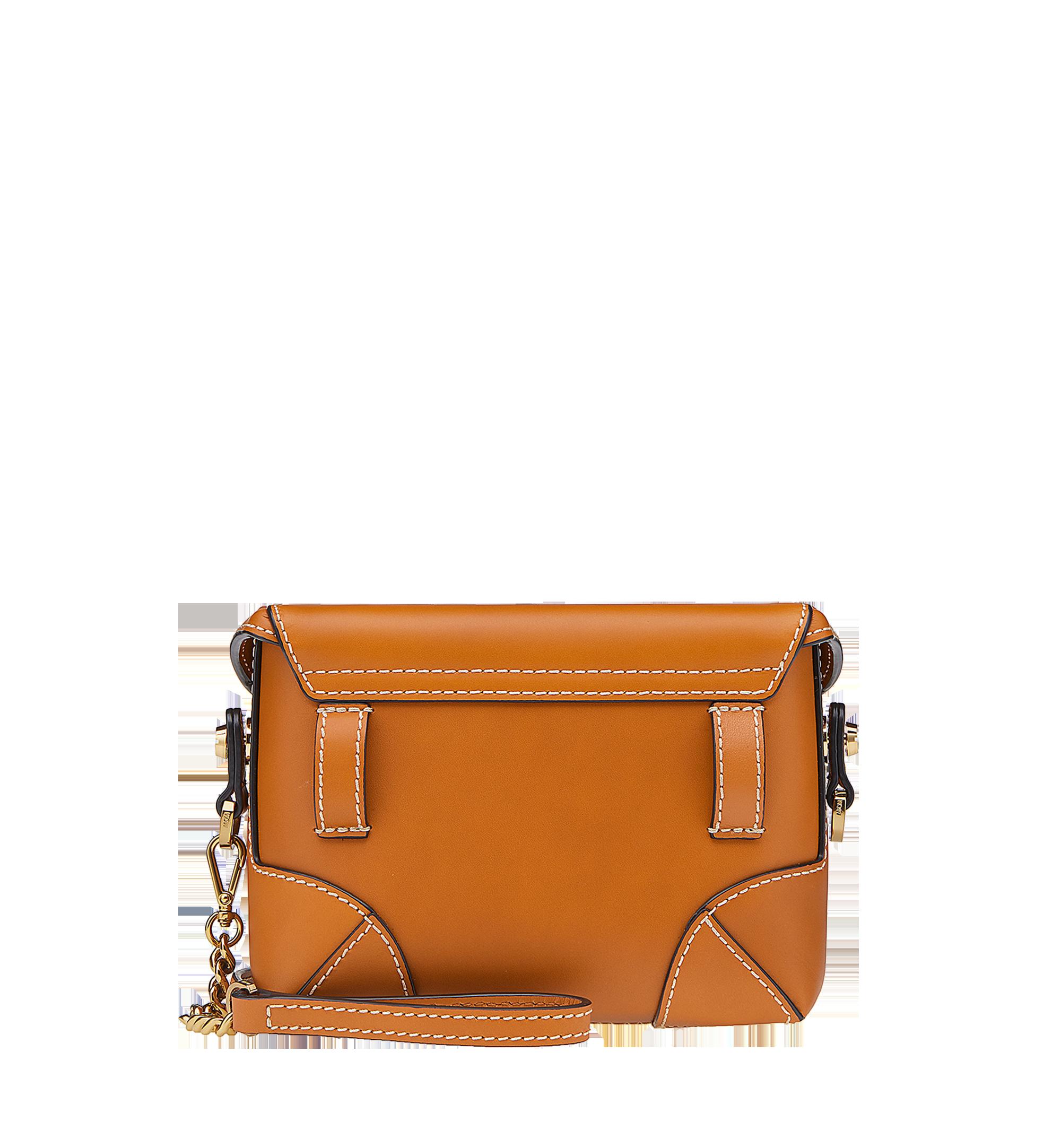 MCM Soft Berlin Belt Bag in Vachetta Leather Cognac MWZ8ABF23CO001 Alternate View 3