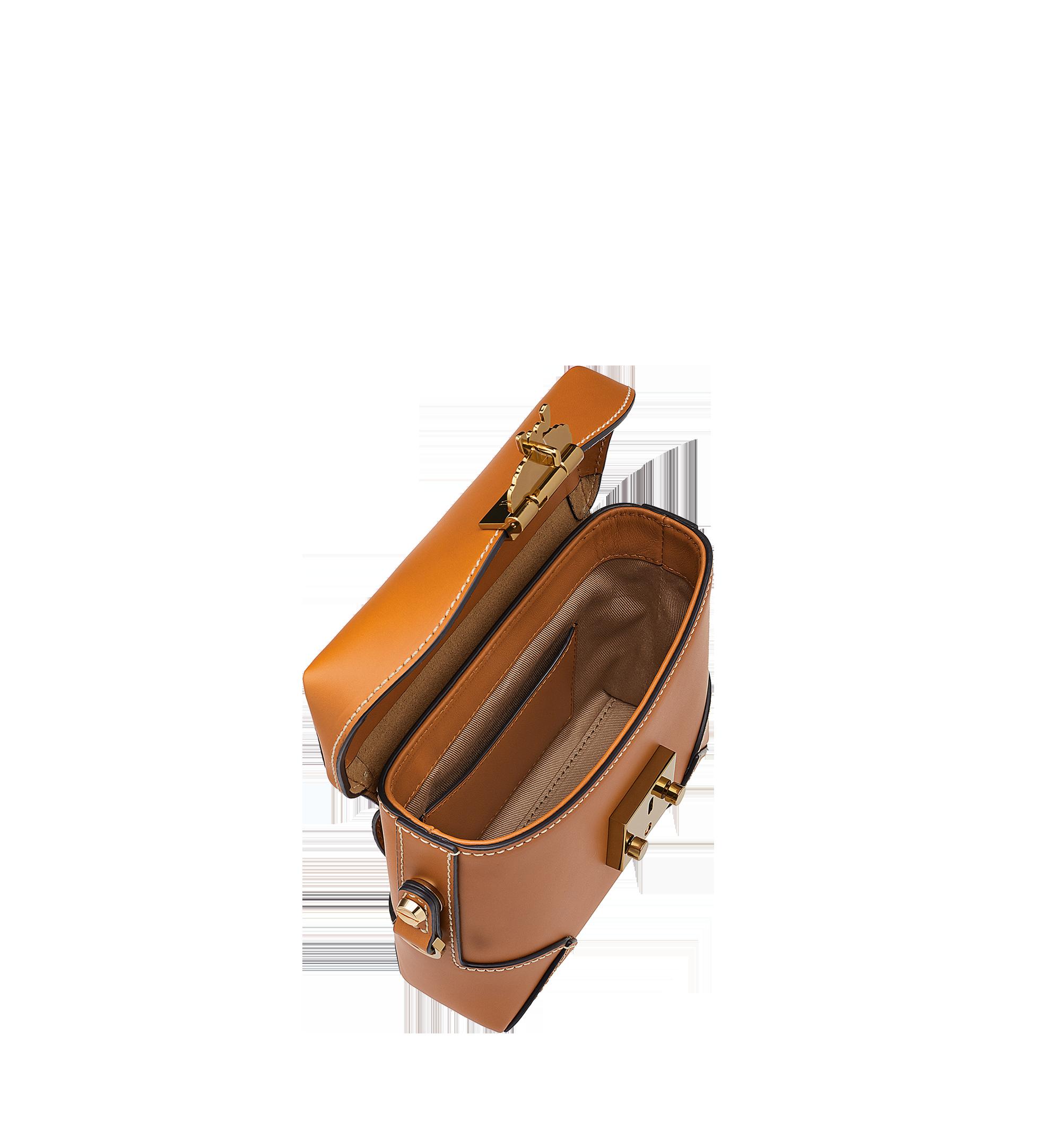MCM Soft Berlin Belt Bag in Vachetta Leather Cognac MWZ8ABF23CO001 Alternate View 5