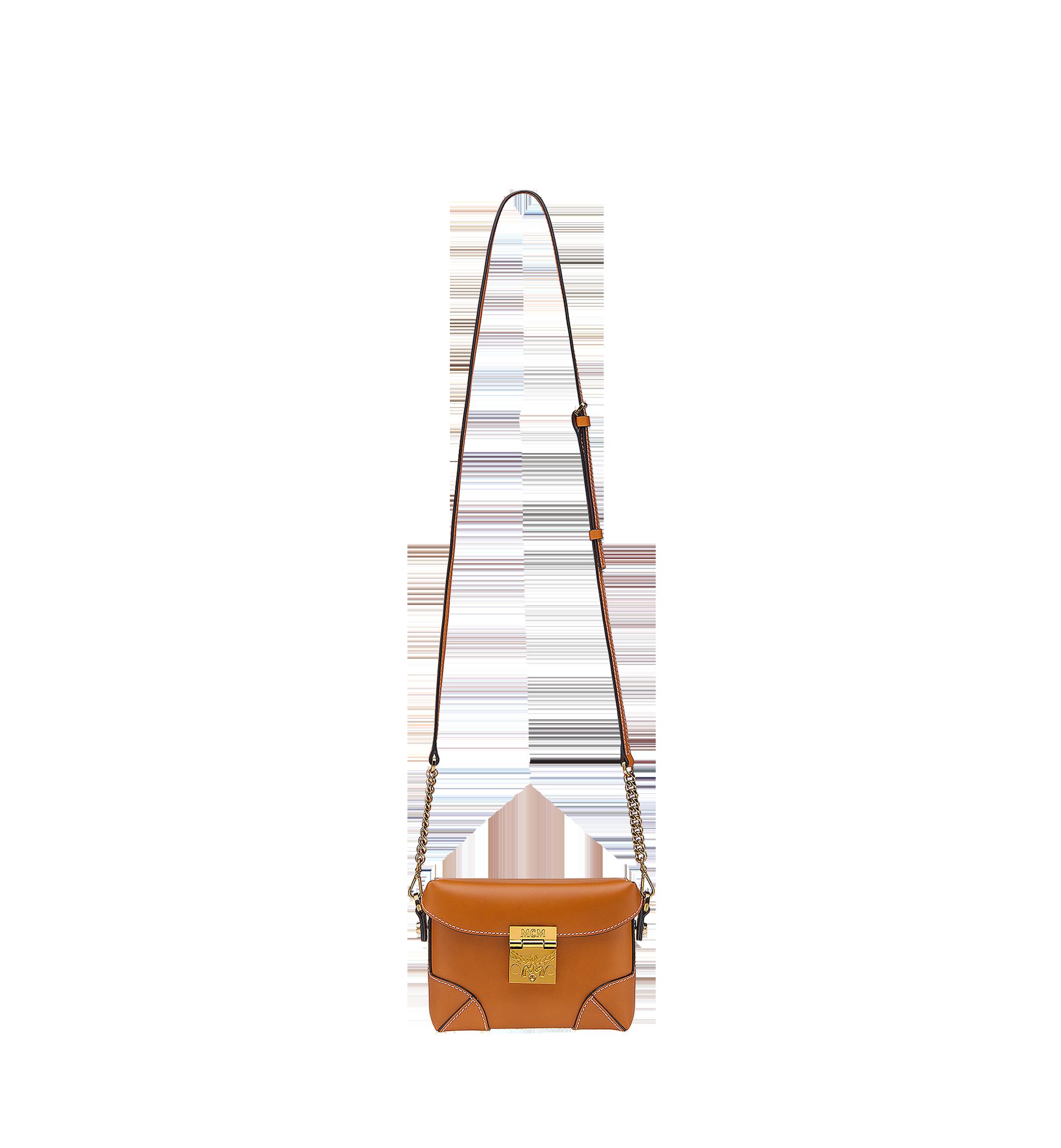 MCM Soft Berlin Belt Bag in Vachetta Leather Cognac MWZ8ABF23CO001 Alternate View 6