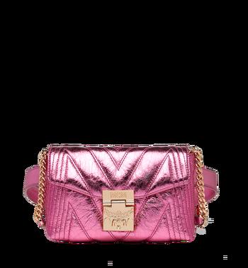 MCM Patricia Belt Bag in Quilted Metallic Leather MWZ8APA73UK001 AlternateView