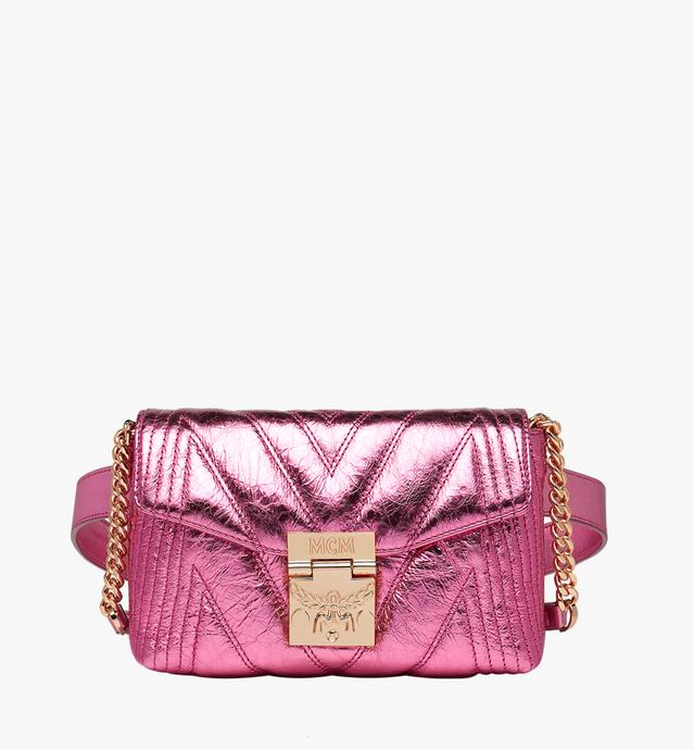 Patricia Belt Bag in Quilted Metallic Leather