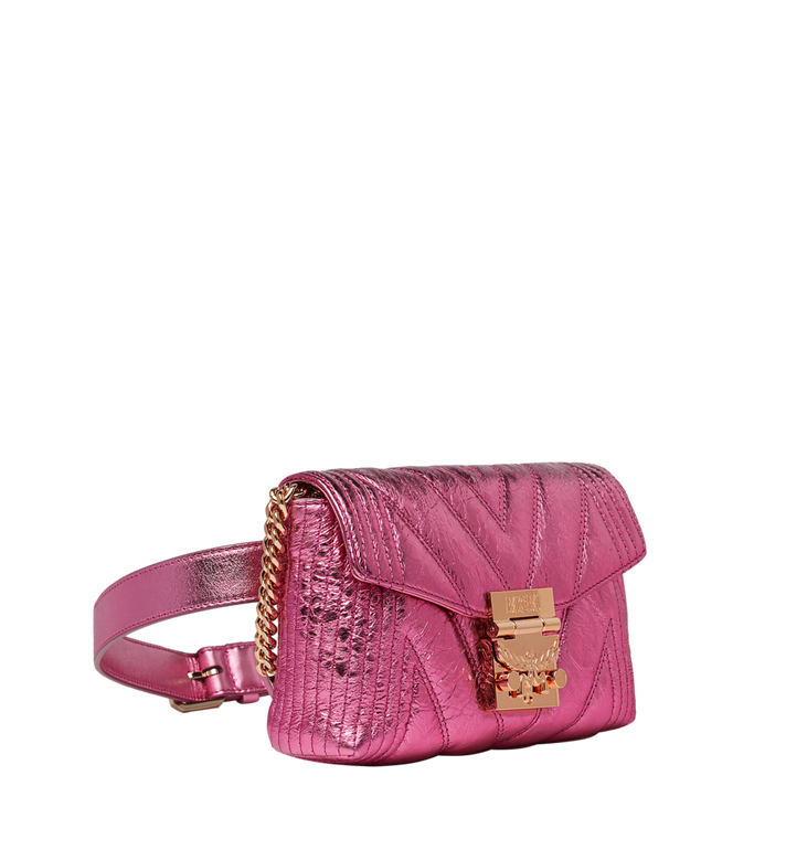 MCM Patricia Belt Bag in Quilted Metallic Leather MWZ8APA73UK001 AlternateView2