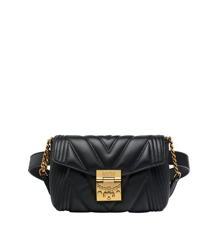 MCM Patricia Belt Bag in Quilted Leather MWZ8APA83BK001 AlternateView