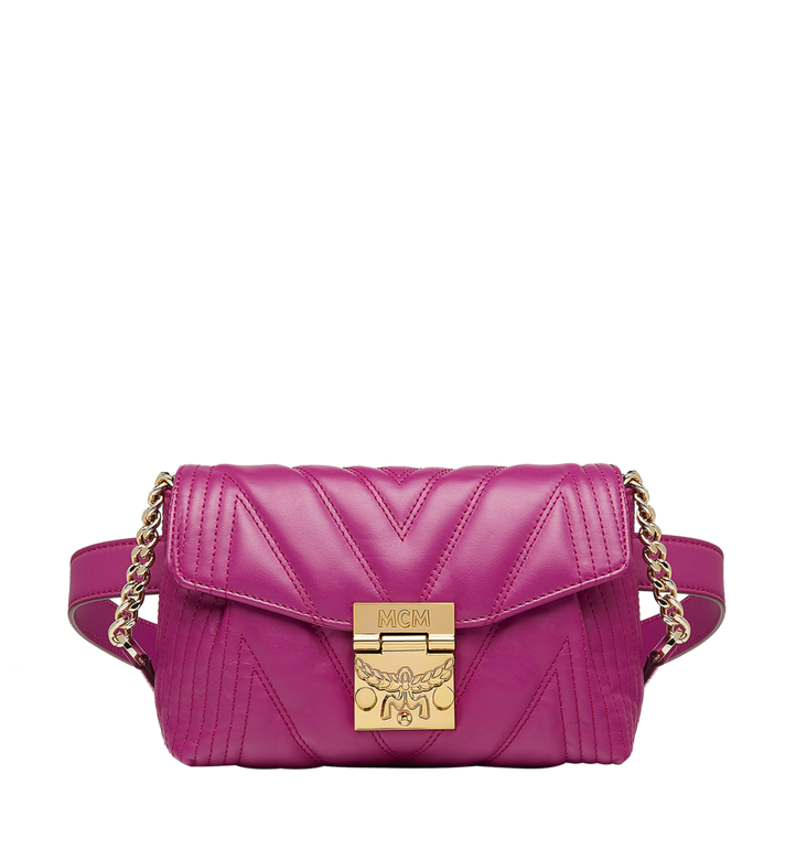 MCM Patricia Belt Bag in Quilted Leather MWZ8APA83UK001 AlternateView