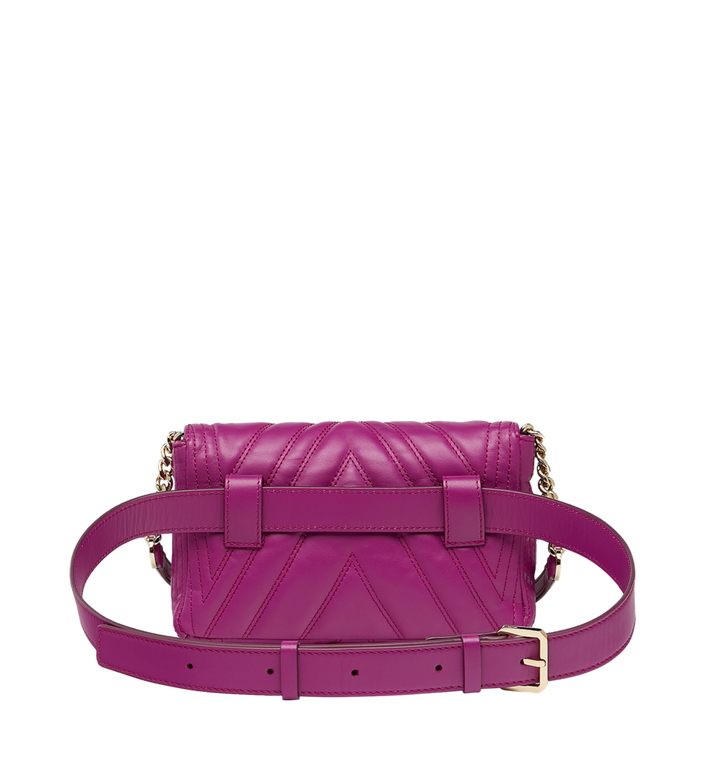 MCM Patricia Belt Bag in Quilted Leather MWZ8APA83UK001 AlternateView4