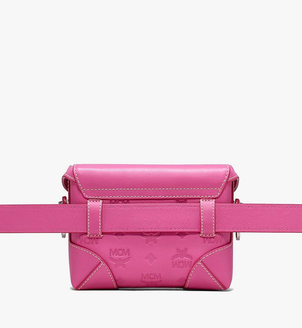 MCM Soft Berlin Belt Bag in Monogram Leather Pink MWZ9ABF26QS001 Alternate View 2