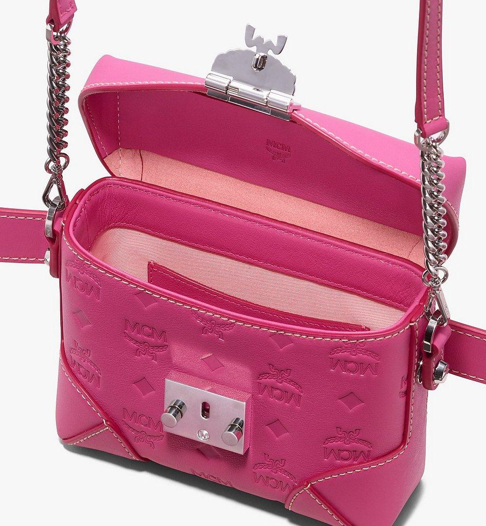 MCM Soft Berlin Belt Bag in Monogram Leather Pink MWZ9ABF26QS001 Alternate View 3