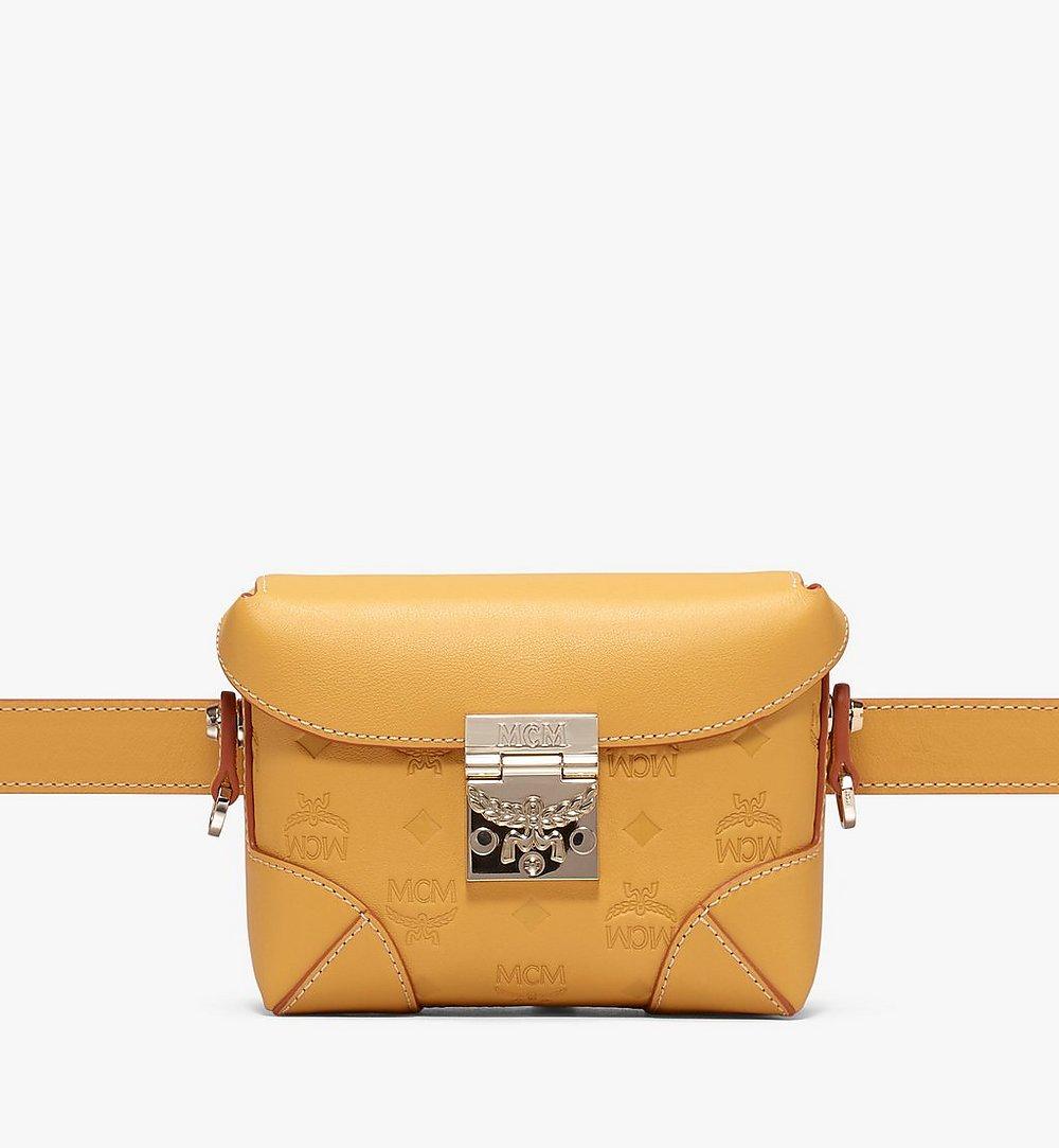 MCM Soft Berlin Belt Bag in Monogram Leather Yellow MWZ9ABF26YJ001 Alternate View 1