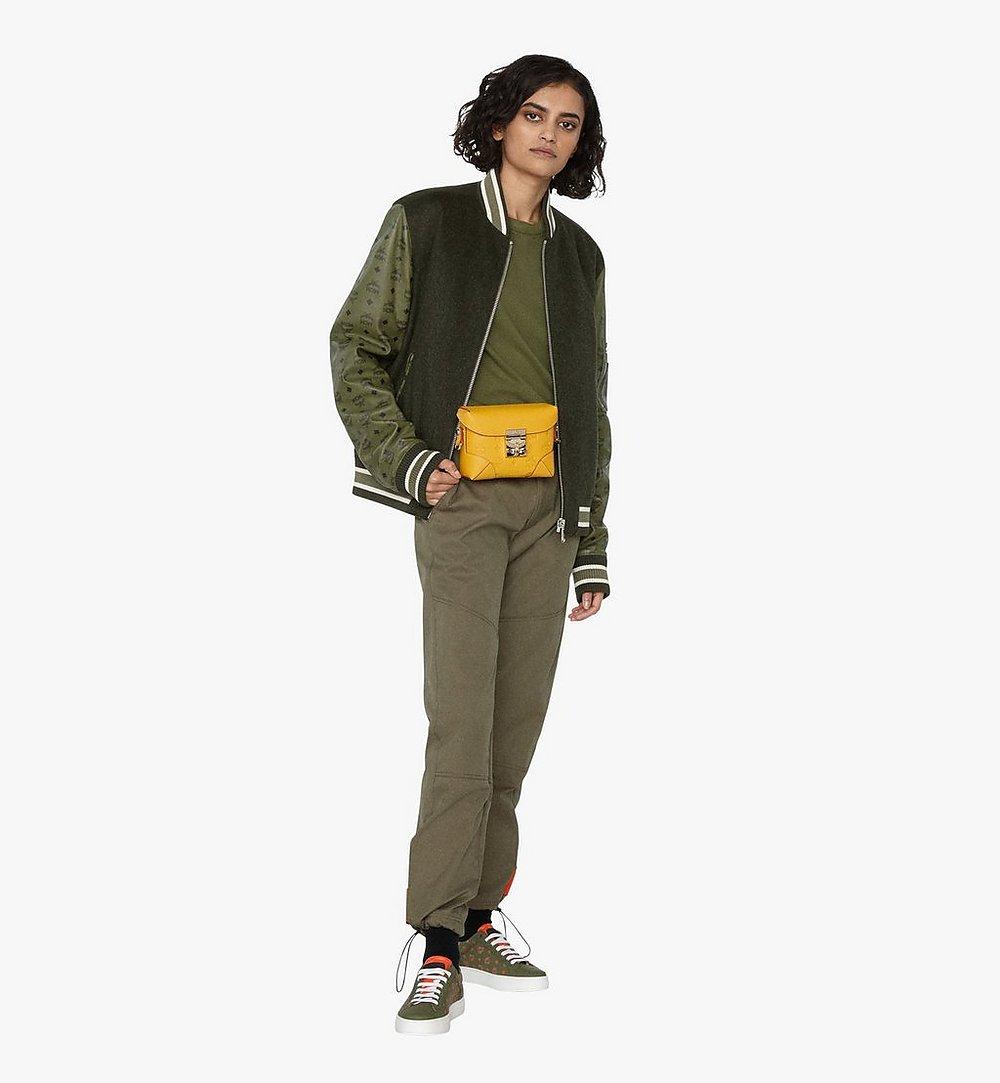 MCM Soft Berlin Belt Bag in Monogram Leather Yellow MWZ9ABF26YJ001 Alternate View 2