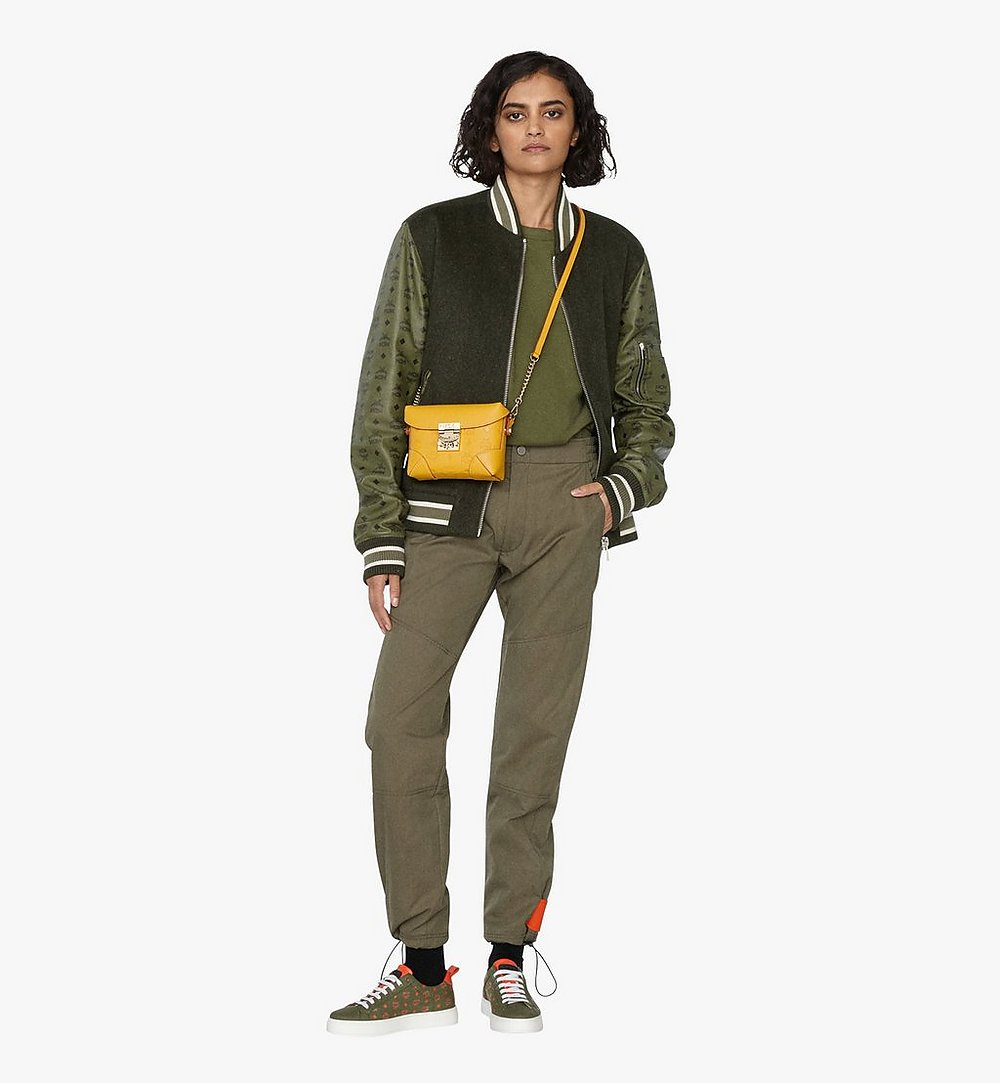 MCM Soft Berlin Belt Bag in Monogram Leather Yellow MWZ9ABF26YJ001 Alternate View 4