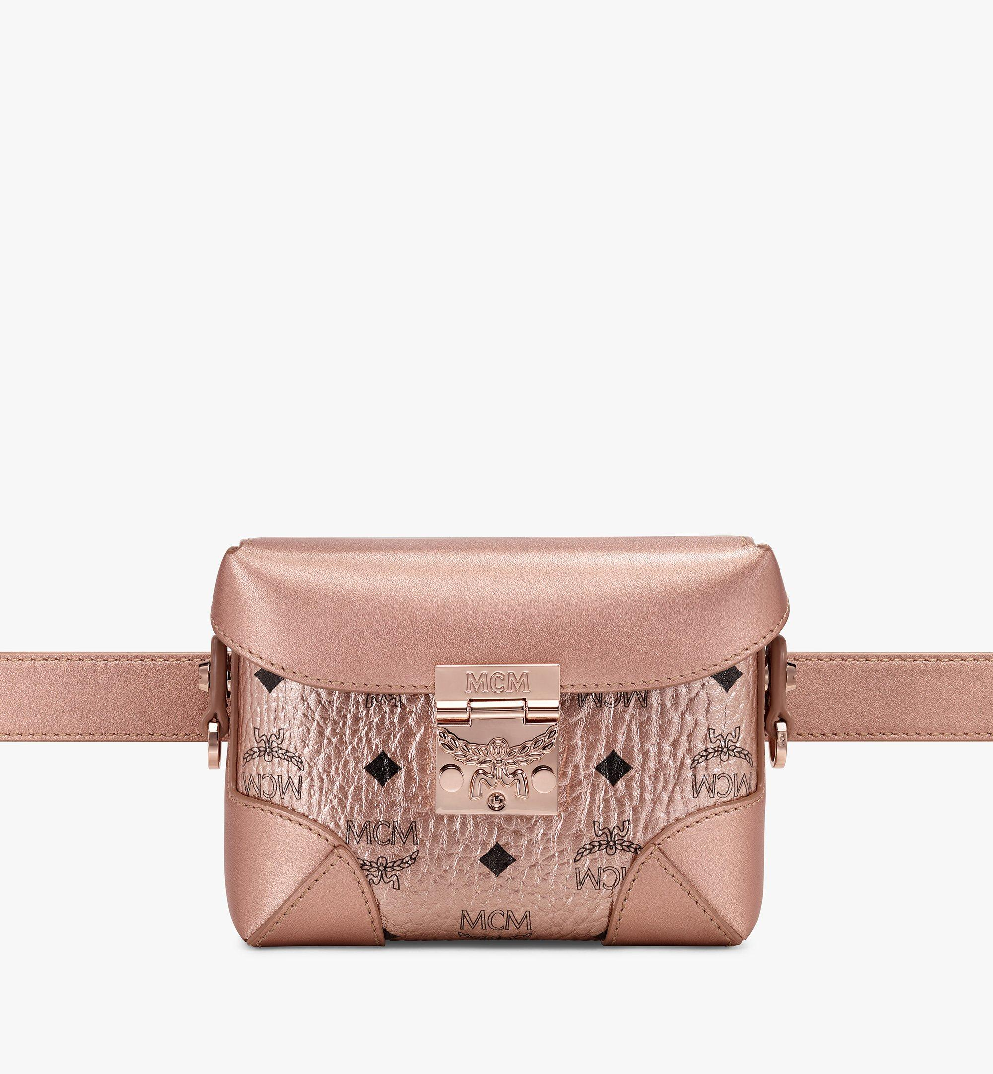 Small Soft Berlin Belt Bag in Visetos Champagne Gold | MCM® DE