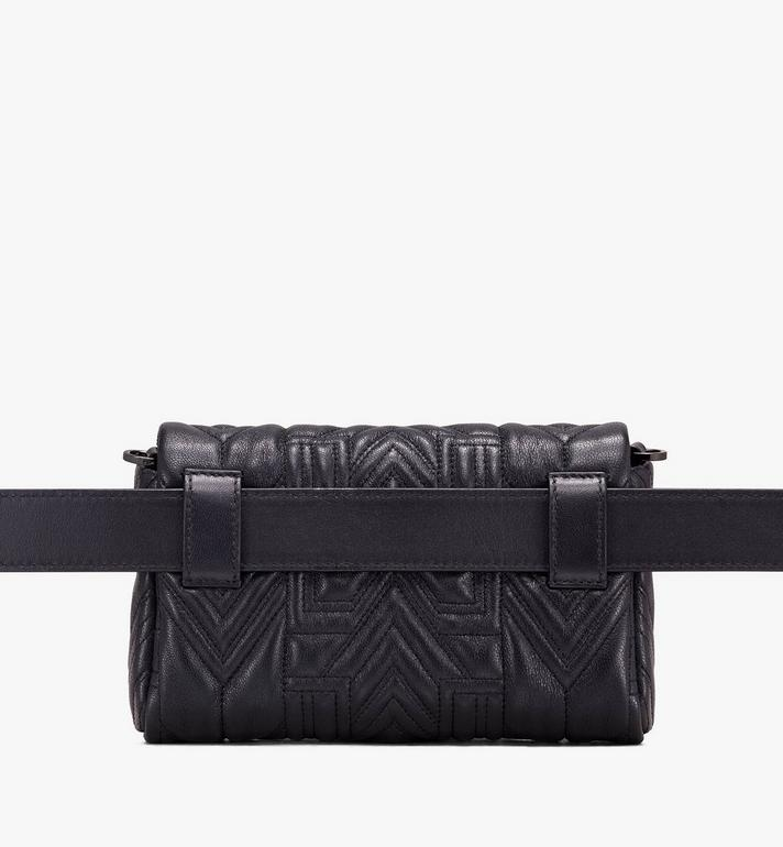 MCM Patricia Belt Bag in Quilted Crystal Leather  MWZ9APA74BK001 Alternate View 3