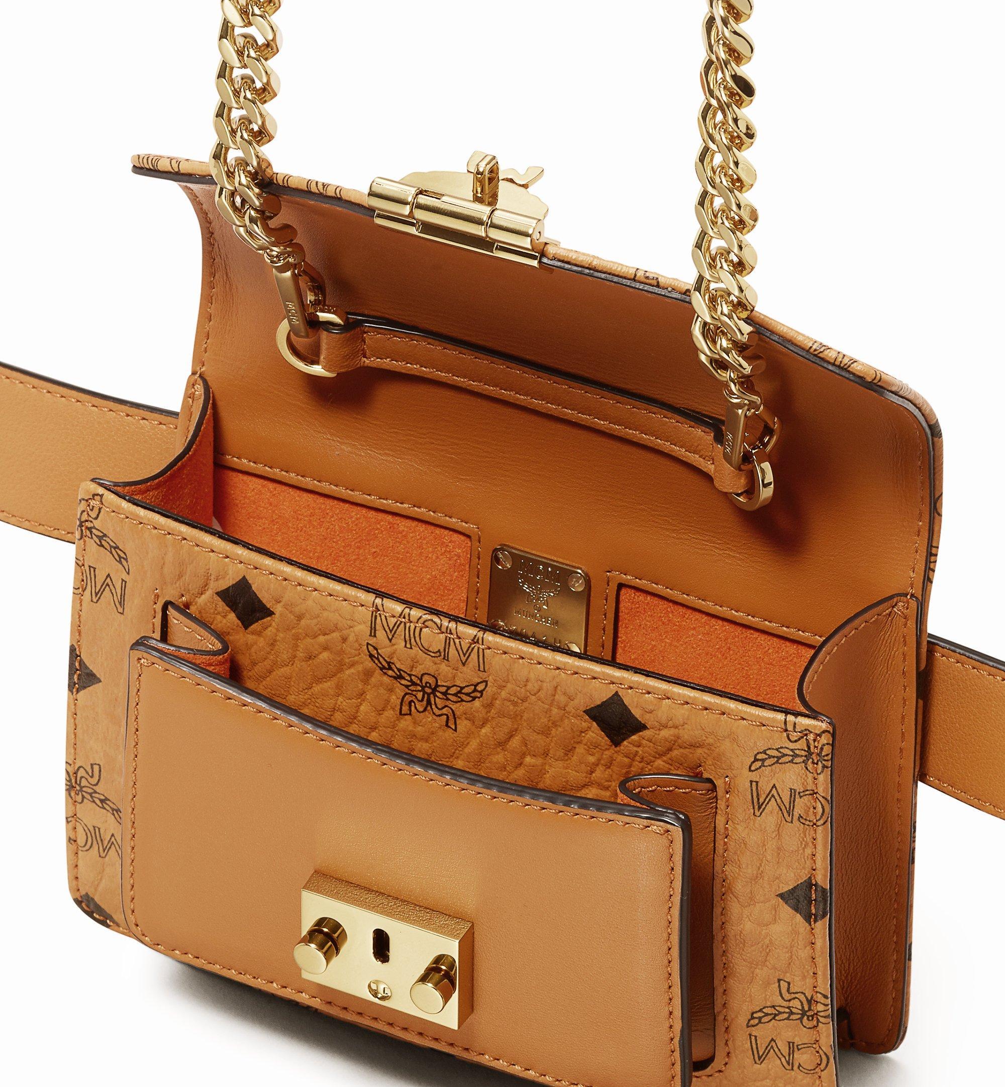 MCM Patricia Belt Bag in Visetos Cognac MWZ9APA87CO001 Alternate View 3