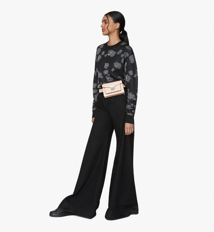 MCM Patricia Belt Bag in Monogram Leather Beige MWZ9APA90II001 Alternate View 5