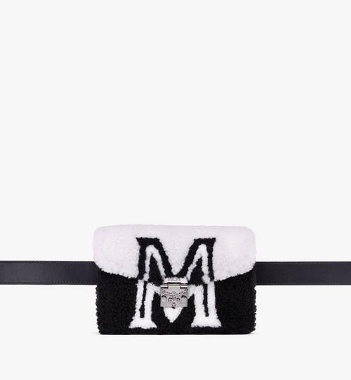 Patricia Belt Bag in Contrast Logo Shearling