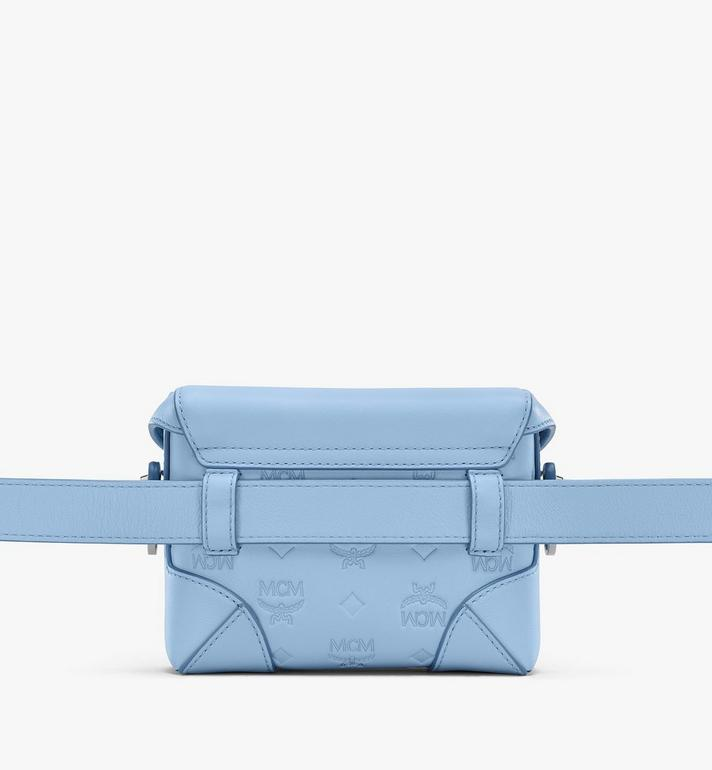 MCM N/S Soft Berlin Belt Bag in Monogram Leather Blue MWZ9SBF26H2001 Alternate View 3