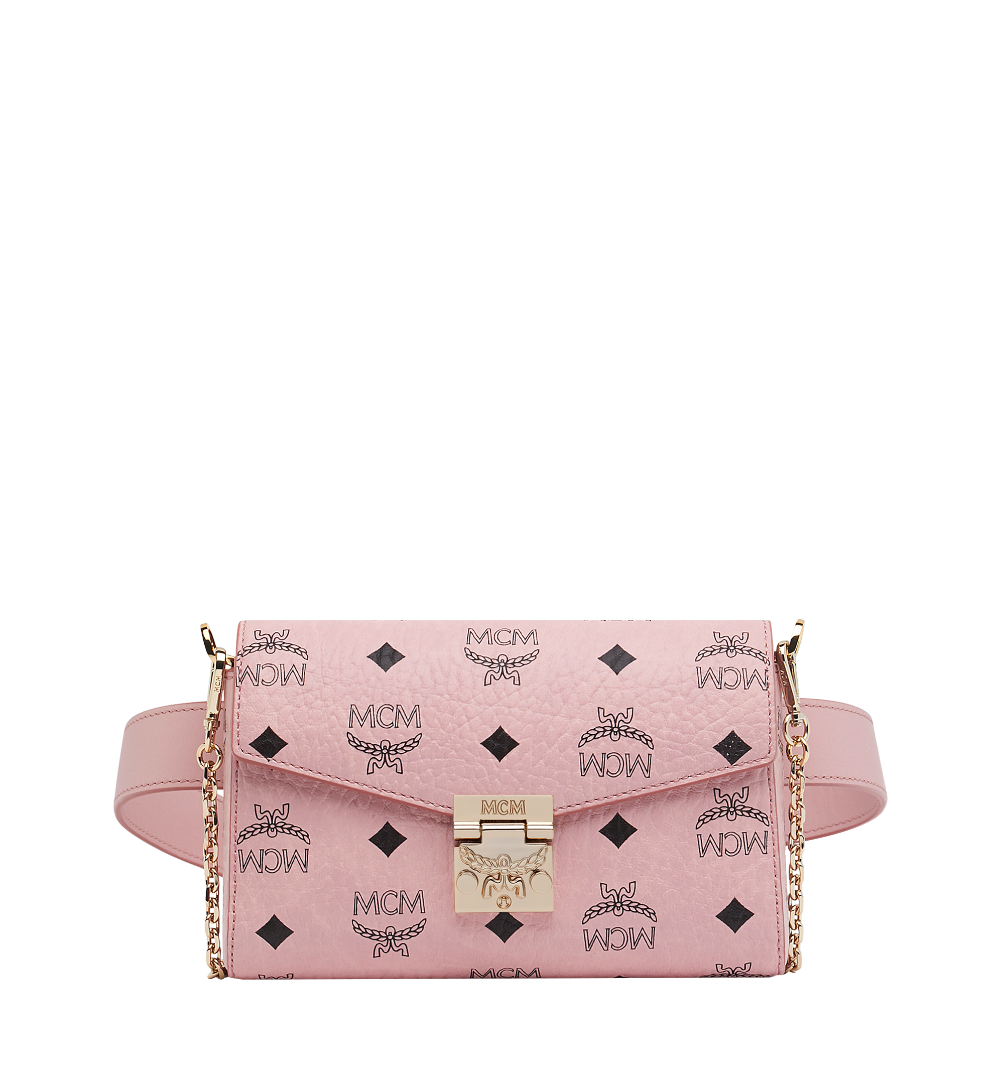 Small Patricia Belt Bag in Visetos Soft Pink | MCM® DE