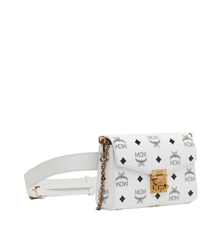 MCM Patricia Belt Bag in Visetos White MWZ9SPA72WT001 Alternate View 2