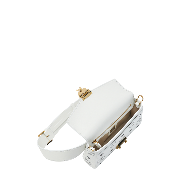 MCM Patricia Belt Bag in Visetos White MWZ9SPA72WT001 Alternate View 5