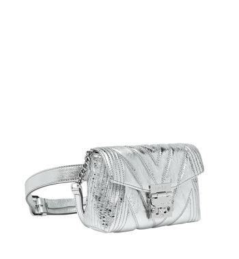 MCM Patricia Belt Bag in Quilted Metallic Leather Alternate View 2