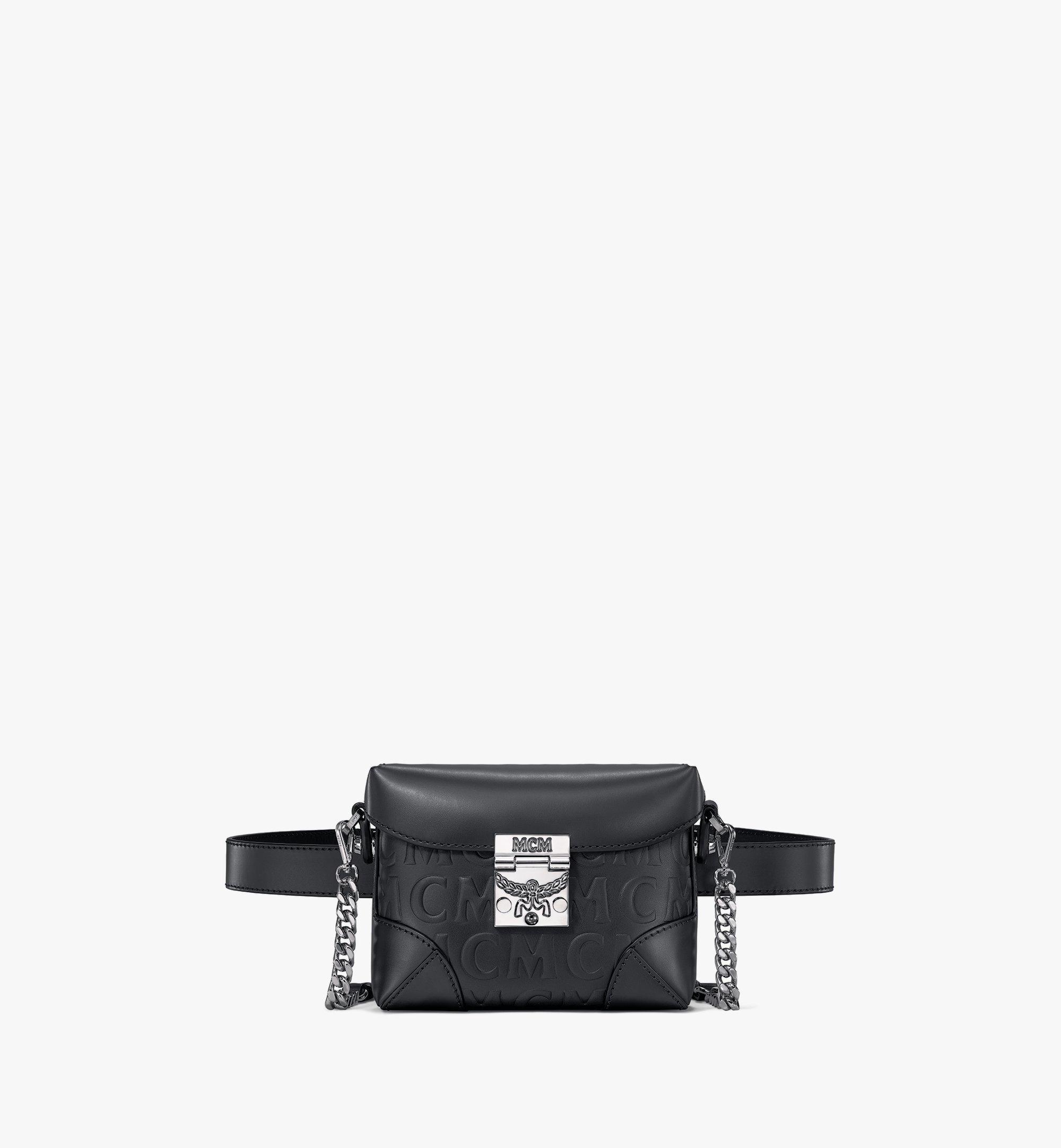 MCM Soft Berlin Belt Bag in MCM Monogram Leather Black MWZAABF01BK001 Alternate View 1