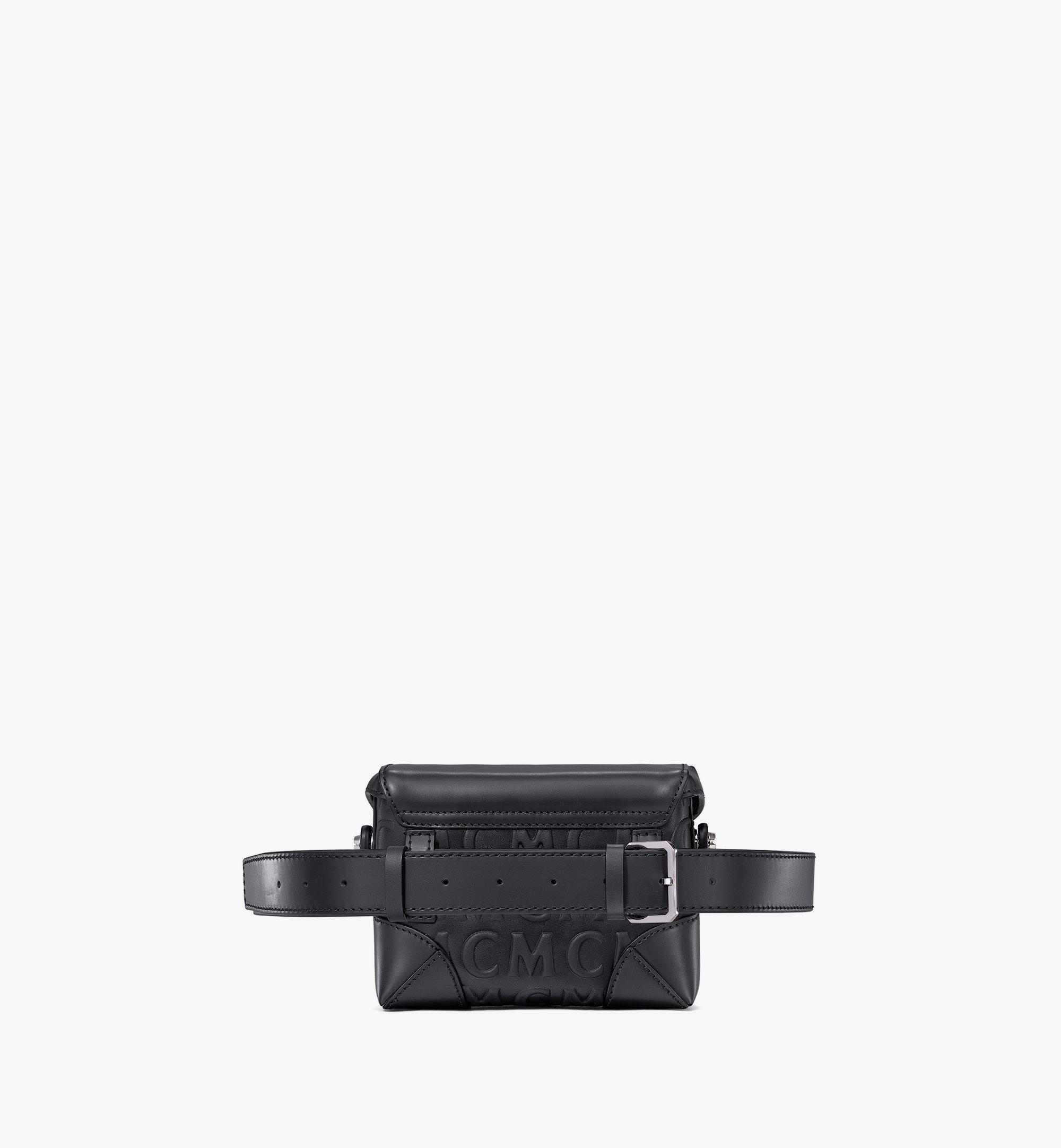 MCM Soft Berlin Belt Bag in MCM Monogram Leather Black MWZAABF01BK001 Alternate View 3