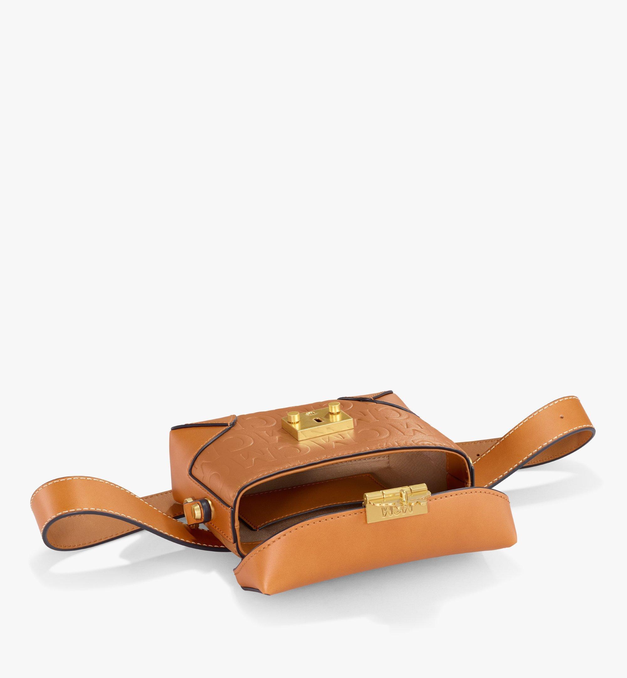 MCM Soft Berlin Belt Bag in MCM Monogram Leather Cognac MWZAABF01CO001 Alternate View 2