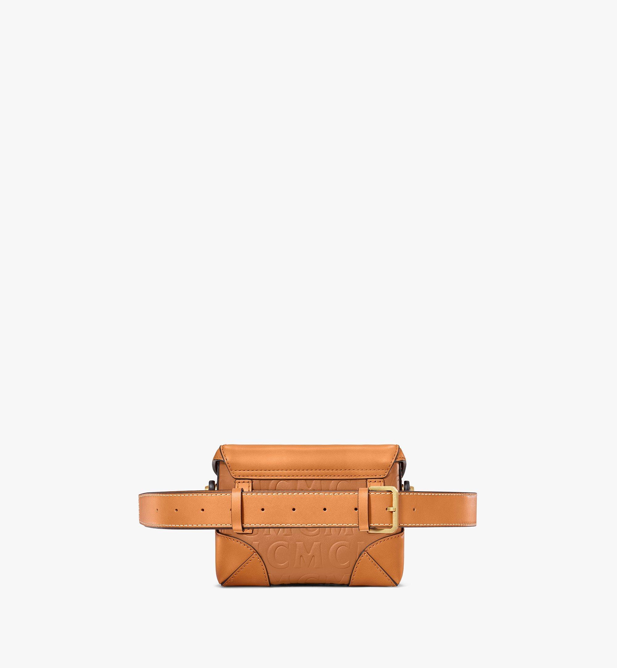 MCM Soft Berlin Belt Bag in MCM Monogram Leather Cognac MWZAABF01CO001 Alternate View 3