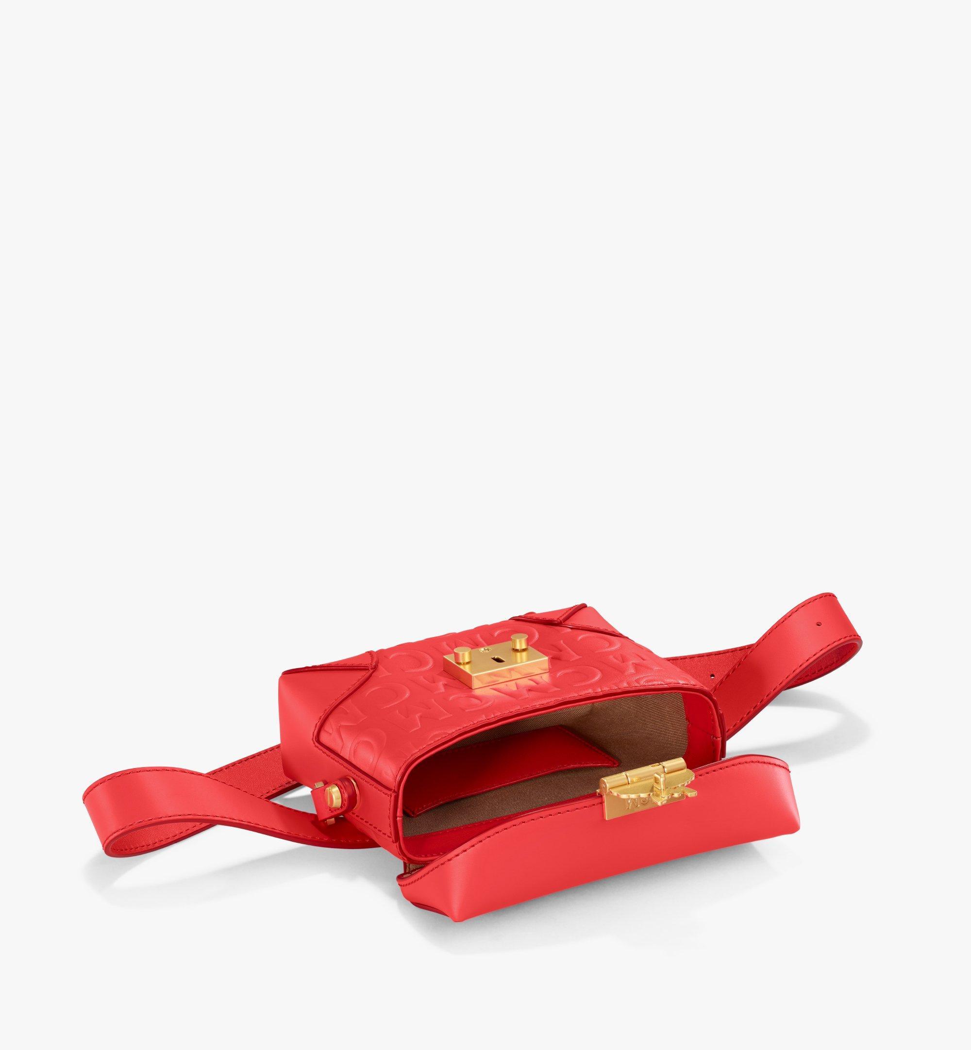 MCM Soft Berlin Belt Bag in MCM Monogram Leather Red MWZAABF01RP001 Alternate View 2