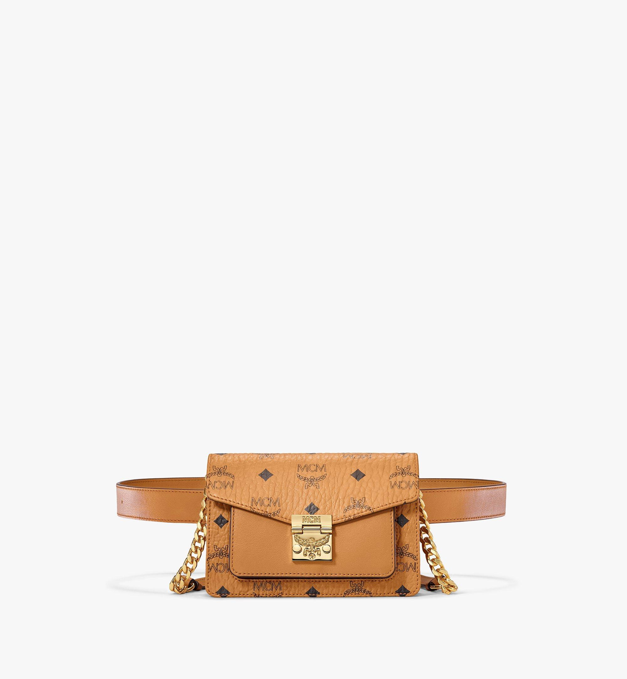 MCM Patricia Belt Bag in Visetos Cognac MWZAAPA01CO001 Alternate View 1