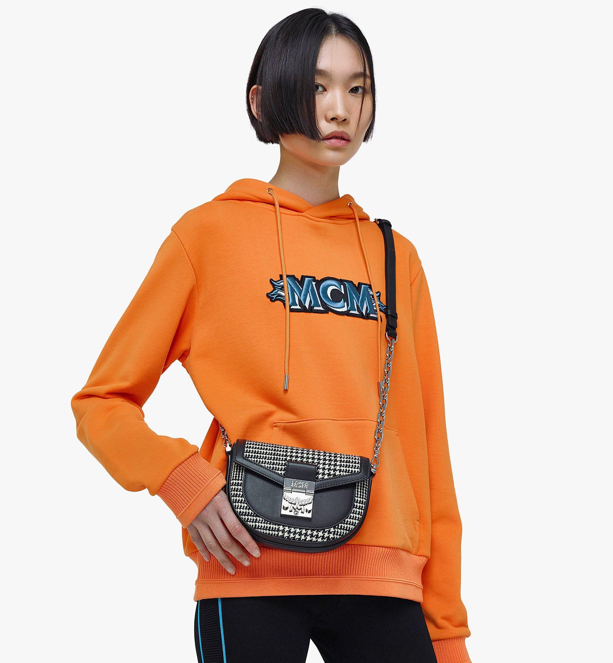 MCM Patricia Belt Bag in Wool Leather Mix Black MWZBAPA01BK001 Alternate View 2