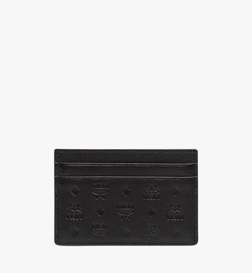 Porte-cartes Sigmund en cuir monogrammé
