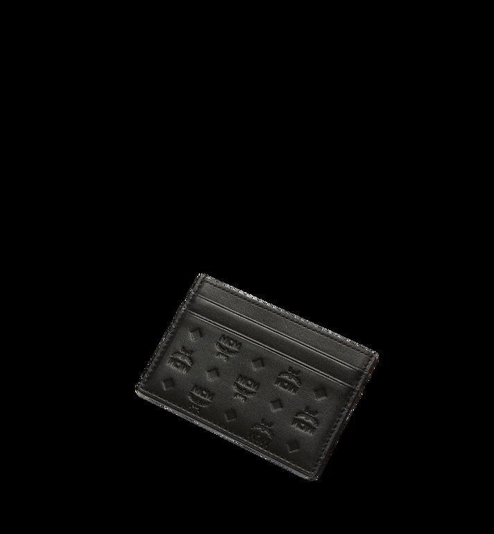 MCM Sigmund Card Case in Monogram Leather Black MXA7AIE26BK001 Alternate View 4