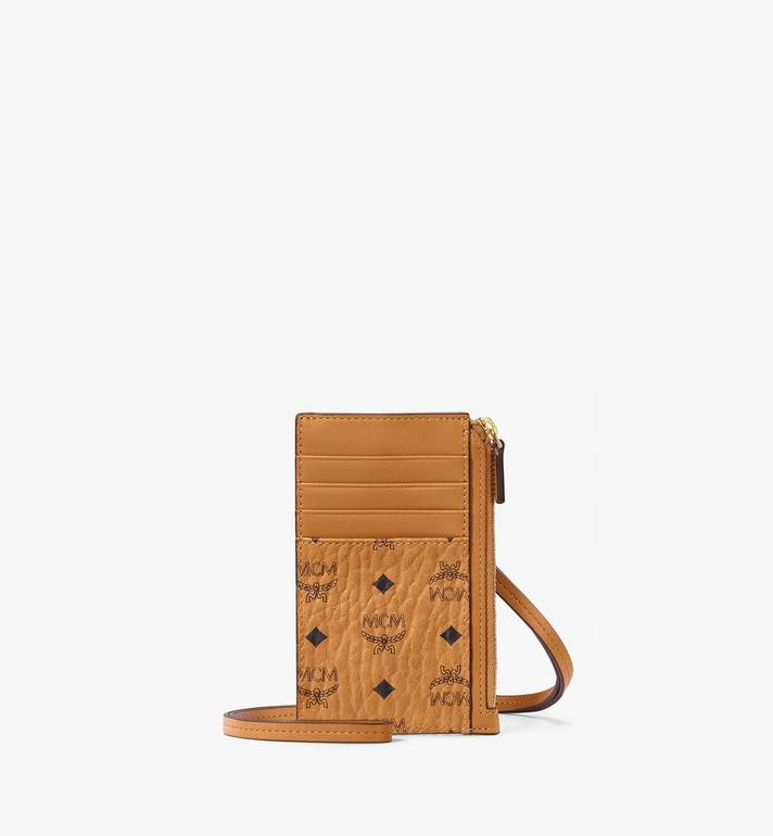 MCM Lanyard Card Holder in Visetos AlternateView