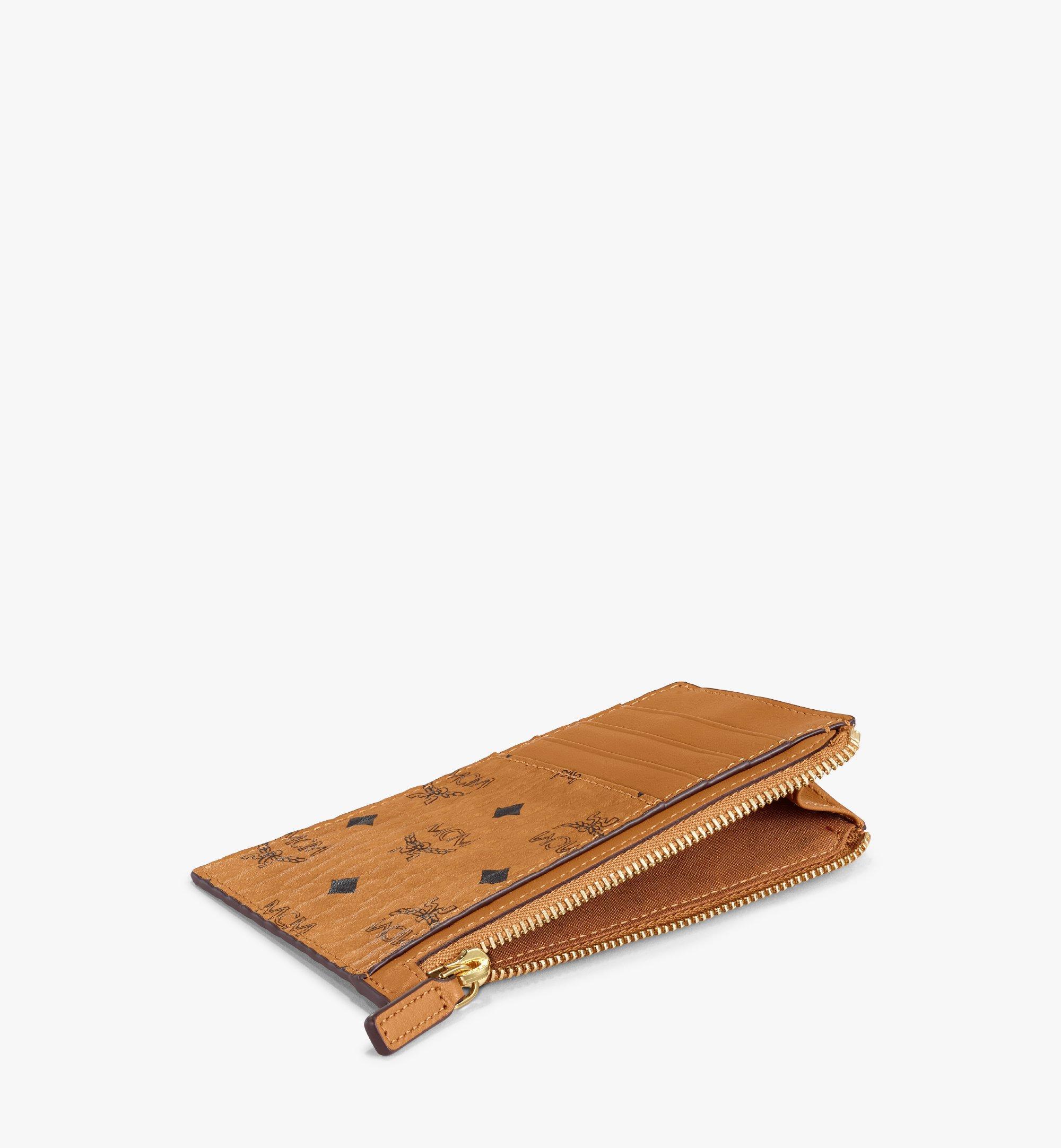 MCM Lanyard Card Holder in Visetos Cognac MXA7SVI41CO001 Alternate View 3