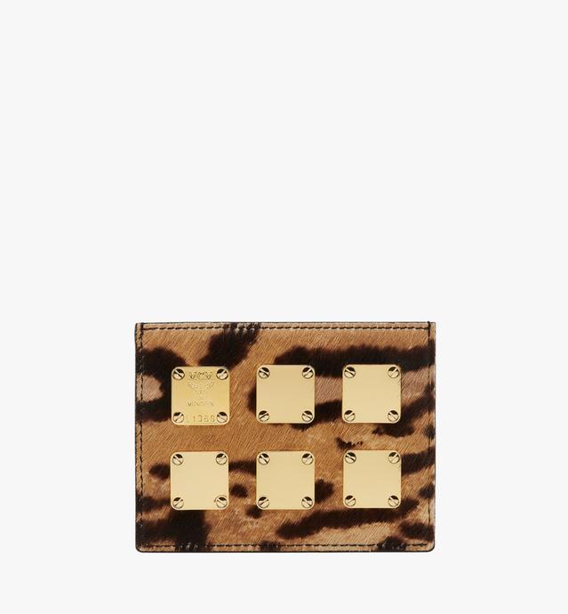 〈スターク〉レオパードヘアカーフ カードケース