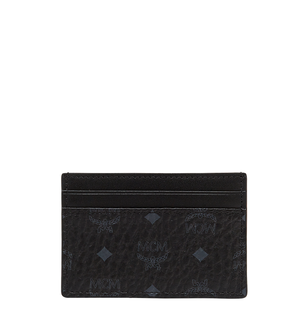 MCM Card Case in Visetos Original Black MXA8SVI26BK001 Alternate View 2