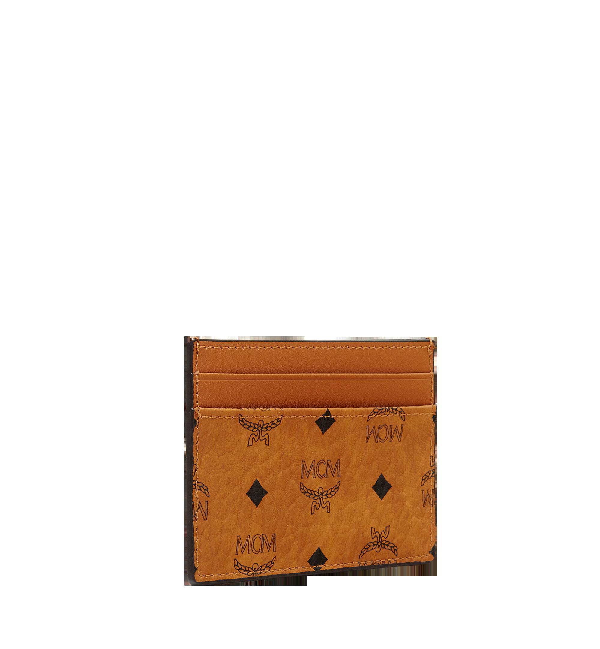 MCM Card Case in Visetos Original Cognac MXA8SVI26CO001 Alternate View 1