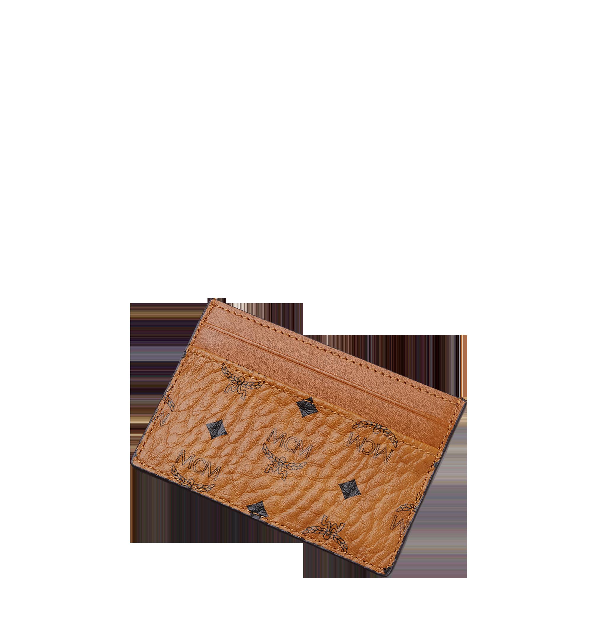 MCM Card Case in Visetos Original Cognac MXA8SVI26CO001 Alternate View 3
