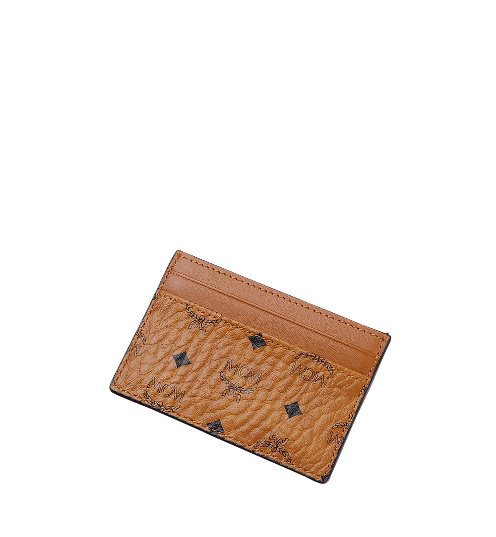 MCM Card Case in Visetos Original Cognac MXA8SVI26CO001 Alternate View 3