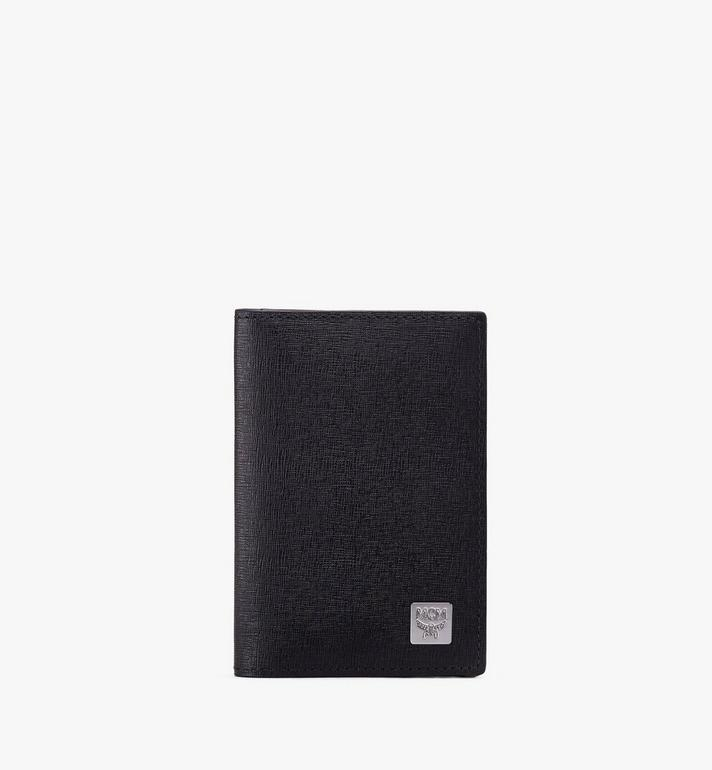 MCM Coburg Two-Fold Wallet in Crossgrain Leather Alternate View