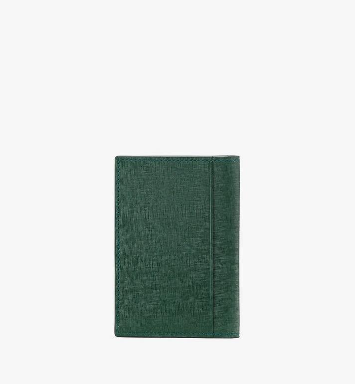 MCM Coburg Two-Fold Wallet in Crossgrain Leather Alternate View 2